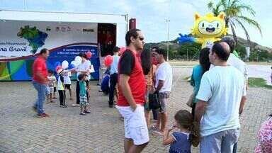 Caminhão-museu olímpico chega a Vitória - Caminhão é um museu itinerante e vai percorrer 45 cidades.