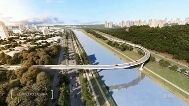 Ponte Laguna é inaugurada na Marginal Pinheiros - A nova ponte será uma opção para quem está no sentido Castelo Branco e quer pegar o sentido Interlagos. Ela vai sair da Rua Laguna e Marginal Pinheiros e vai desembocar perto do Parque Burle Marx.