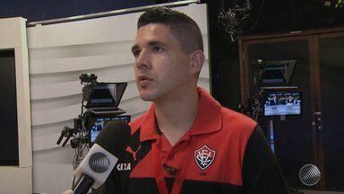 Diego Renan fala sobre comemoração no Vitória e metas para as próximas competições - Veja as notícias do rubro-negro baiano.