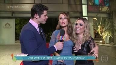 José Loreto mostra a coletiva da novela 'Haja Coração' - Nova novela das 7 estreia no dia 31 de maio