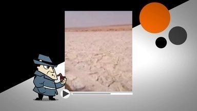 """Detetive virtual investiga """"Rio de Areia"""" no Iraque - Na internet, um vídeo causou polêmica ao mostrar uma espécie de rio de areia que surgiu no Iraque. O Detetive Virtual investiga se o fenômeno é de verdade ou mentira."""