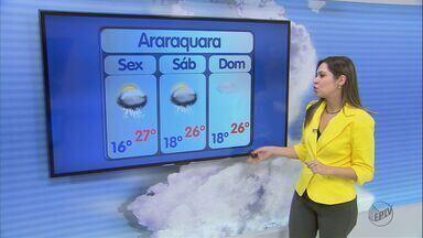 Confira a previsão de tempo para São Carlos e região - Confira a previsão de tempo para São Carlos e região