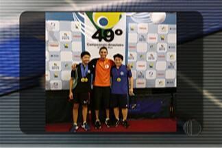 Jovens do tênis de mesa garantem medalhas no Campeonato Brasileiro de inverno - Os meninos conquistaram medalha individual e nas duplas.