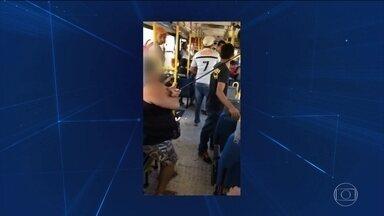 No Pará, uma mulher é vítima de uma flecha perdida - O braço dela foia tingido quando o ônibus passava por uma rodovia na região metropolitana de Belém.