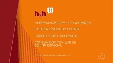 Entenda a expressão 'h2h', a nova tendência para o mundo dos negócios - Você já ouviu falar no termor h2h? É a abreviação da expressão 'human to human', em português, 'de pessoa para pessoa'. Esta é a nova tendência para o mundo dos negócios: uma aproximação cada vez maior com o consumidor.