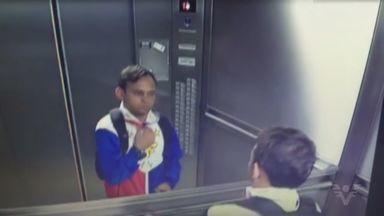 Imagens flagram invasão a escritório em edifício comercial de Santos - Um bandido invadiu e roubou objetos de um escritório que fica num edifício comercial no bairro Boqueirão, em Santos. As câmeras de monitoramento flagraram toda a ação.