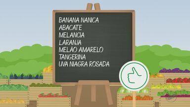 'Barato da Feira' dá dicas de hortaliças com preço baixo - Banana nanica, abacate, melancia, laranja, melão, tangerina e uva sofreram queda no preço.
