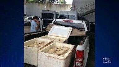 Duas pessoas são presas suspeitas de tráfico de drogas em Santa Inês - Homens foram presos durante operação de combate ao tráfico na cidade.