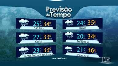 Veja como fica a previsão do tempo para esta quarta-feira (25) no Maranhão - Veja como fica a previsão do tempo para esta quarta-feira (25) no Maranhão.