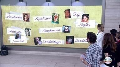 Felipe Andreoli e Ana Furtado mostram nomes raros - Participantes comentam origens de seus nomes
