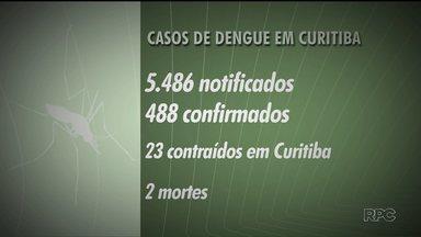 Casos de dengue em Curitiba reduziram - Durante o verão, equipes da prefeitura, exército, voluntários e a população se mobilizaram para combater o mosquito da dengue. Apesar da redução, a prefeitura de Curitiba alerta: os cuidados contra o mosquito devem existir sempre.