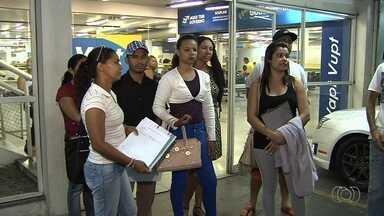 Desempregados reclamam de não conseguir dar entrada no seguro-desemprego, em GO - Eles enfrentam problemas para fazer o procedimento devido a problemas no sistema.