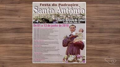 Confira a agenda do campo para esta semana - Hoje tem festa do padroeiro Santo Antônio, em Ibiraçu.