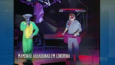 """Paraná TV resgata show dos Mamonas Assassinas em Londrina - O show faz parte dos arquivos da RPC e foi resgatado no quadro """"A gente já foi assim"""", que tem a participação de telespectadores."""