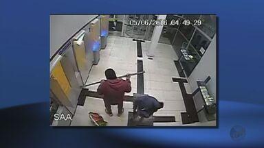 Câmeras flagram explosões de caixas eletrônicos em bancos de Santana da Vargem (MG) - Câmeras flagram explosões de caixas eletrônicos em bancos de Santana da Vargem (MG)