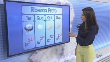 Previsão é de chuva durante a madrugada em Ribeirão Preto, SP - Formação deve começar com trovoadas, raios e vento forte.