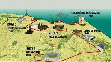 Tocha Olímpica chega nesta terça ao Ceará - Tocha vai percorrer 12 cidades do Ceará durante três dias.