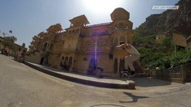 Espalhando O Skate Em Jaipur