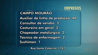 Agência de Campo Mourão tem 40 vagas para auxiliar de linha de produção - Veja também algumas vagas abertas nas agências do trabalhador de Maringá e de Marialva.