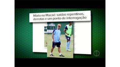 Após trajetória de derrotas, treinador do Macaé anuncia saída do time - Diretoria estuda quem vai assumir o cargo.