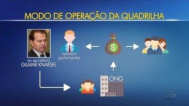 Ex-deputado Gilmar Knaesel é preso suspeito de desviar recursos de ONGs - Ex-deputado Gilmar Knaesel é preso suspeito de desviar recursos de ONGs