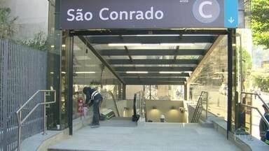 Obra da estação de São Conrado da Linha 4 do metrô fica pronta - Estação faz parte do chamado trecho olímpico da Linha 4, que inclui Nossa Senhora da Paz, Jardim de Alah, Antero de Quental, São Conrado e Jardim Oceânico.