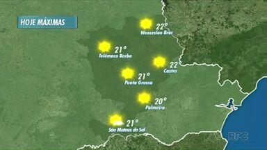 Quarta-feira será de sol durante toda a tarde - Temperatura sobe bastante em comparação com os últimos dias.