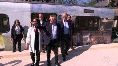Comitê olímpico testa o trem para Deodoro - O trem será o principal transporte para o público que vai aos jogos em Deodoro e Engenhão