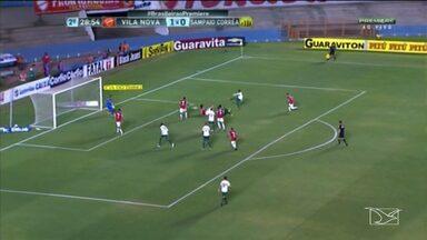 Sampaio perde para o Vila Nova e volta para lanterna da Série B - Tricolor sofre a sétima derrota na competição