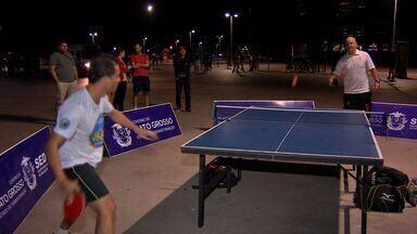 Federação divulga tênis de mesa no entorno da Arena Pantanal - Federação divulga tênis de mesa no entorno da Arena Pantanal