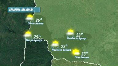 O tempo muda nesta quinta-feira com a chegada de áreas de instabilidade - A temperatura máxima passa dos 20 graus.