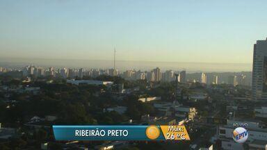 Previsão é de tempo seco e ensolarado nesta sexta-feira (17) na região de Ribeirão Preto - Temperatura máxima deve ser de 26ºC.