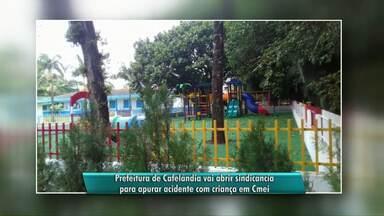 É grave o estado de saúde da menina de 4 anos que se machucou em parquinho - A criança foi encontrada presa pelo pescoço em um brinquedo de um CMEI de Cafelândia.