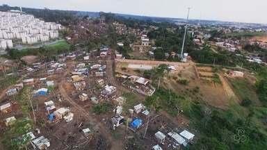Invasão de terra cresce na Zona Norte de Manaus - Ocupação irregular fica perto do conjunto Viver Melhor.
