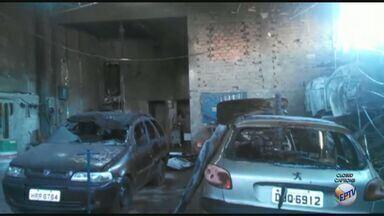 Oficina mecânica é atingida por incêndio duas vezes em Ribeirão Preto - Polícia Civil investiga suspeita de crime.
