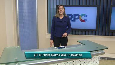AFP de Ponta Grossa vence em casa o time do Marreco - O placar foi apertado por 4 x 3 para o time da casa