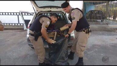 Polícia apreende cerca de 60 kg de maconha em Três Corações, MG - Polícia apreende cerca de 60 kg de maconha em Três Corações, MG