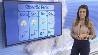 Previsão de tempo quente e seco no domingo (26) na região de Ribeirão Preto - Meteorologistas não preveem chuva, pelo menos, até quarta-feira (30).