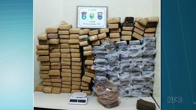 Policia apreendeu 128 quilos de maconha em Ponta Grossa - A droga estava em uma casa no Jardim Paraíso