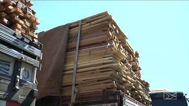 Caminhoneiros usam rotas alternativas para transportar madeira ilegal no MA - Caminhoneiros que transportam madeira extraída ilegalmente de reservas indígenas e áreas de preservação ambiental estão usando rotas alternativas para fugir da fiscalização. Uma dessas rotas é a BR-230 na região sul do estado.