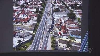 Quatro viadutos estão sendo construídos na Imigrantes - Obras são na altura da cidade de São Vicente.