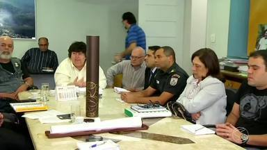 Reunião acerta detalhes da passagem da Tocha Olímpica em Volta Redonda, RJ - Encontro reuniu representantes das forças de segurança da cidade; chama chega ao município no próximo dia 28.