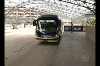 BRT ainda tem baixa procura apesar das passagens gratuitas, em Belém - Primeira etapa da obra foi inaugurada em caráter experimental.