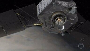 Em poucas horas, sonda da Nasa deve chegar à órbita de Júpiter - Pela primeira vez uma nave vai ficar perto do maior planeta. Se manobra delicada falhar, sonda passara direto por Júpiter.