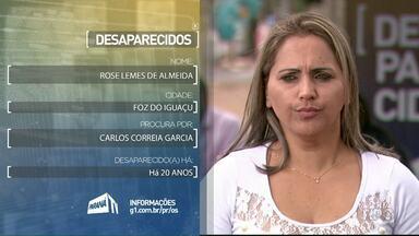 Famílias procuram parentes desaparecidos - São moradores de Foz do Iguaçu