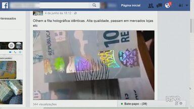 Dinheiro falso é vendido nas redes sociais - Polícia Federal alerta para esse tipo de crime