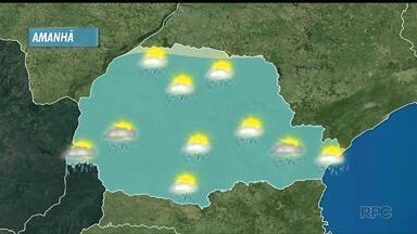 Tempo vai virar em todo Paraná, a partir de amanhã (06) - tem previsão de chuva para quarta-feira e as temperaturas devem cair.