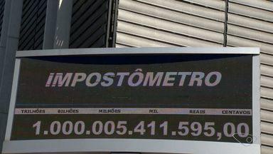 Impostômetro chega a marca de R$ 1 trilhão em 2016 em Vitória, o ES - A marca foi atingida seis dias depois do registrado no ano de 2015.
