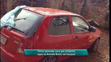 Polícia apreende carro conduzido por motorista que atropelou e matou rapaz em Cascavel - Motorista ainda não foi encontrado.
