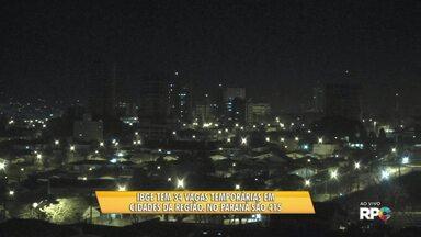 Processo seletivo do IBGE oferece 415 vagas de emprego no Paraná - São 32 vagas pra região